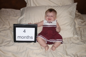 4 month cheerleader