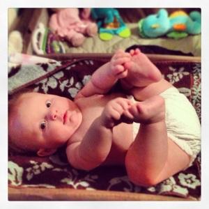 Happy Baby Pose (Feb 2013)