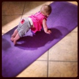 More Baby Yoga (Down Dog Plank Transition, I believe)