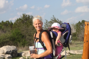 Hiking with Mommy at the Ranch!