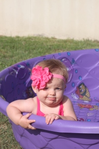 Playing in the Baby Pool in Clothes