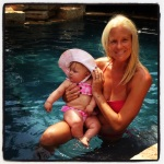 Swimming with Mommy