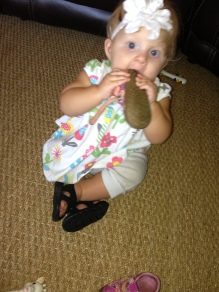 Little Lady Eating a Shoe