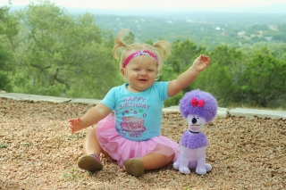 I love my purple poodle puppy!!