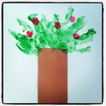 Landri's First Artwork (09.11.13) - My Apple Tree