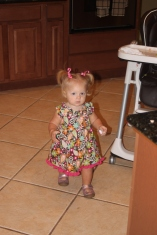 My dress Mommy made!