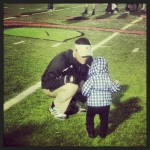Landri and Daddy after the game