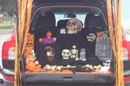 Our car for Trick or Trunking at School