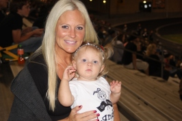 With Mommy at EC game