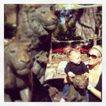 Lion Statue with Mommy