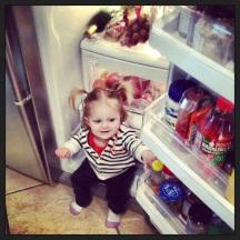 Sitting in the fridge