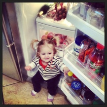 Sitting in the fridge