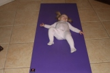 Baby Yoga - Attempting Savasana