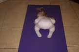 Baby Yoga - Landri demonstrates Balasana, Child Pose