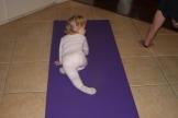 Baby Yoga - Pigeon Pose!