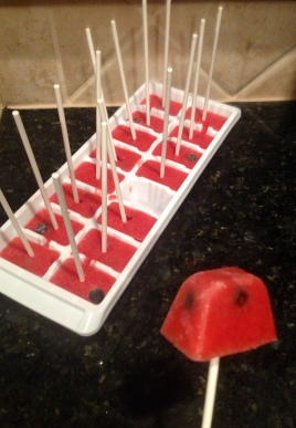 Strawberry and Blueberry (Ladybug) Pops - 1