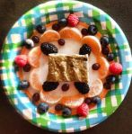 Vegan Protein Granola Bar and Fresh Fruit