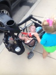 Blowout in seat equals stroller basket