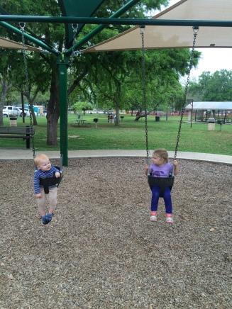 Swingin with my Sissy