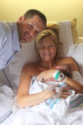 Baby Ty with Mommy and Daddy
