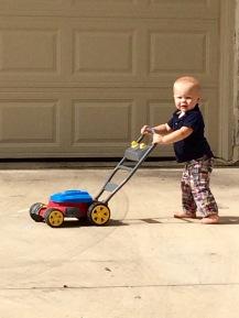 I like to mow!