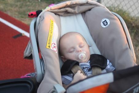 Sleeping thru it all!