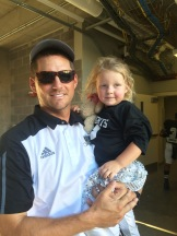 Daddy and Landri Pre-game