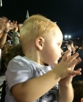He loves to clap!