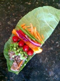 Pecan Hummus Veggie Wrap (inside)