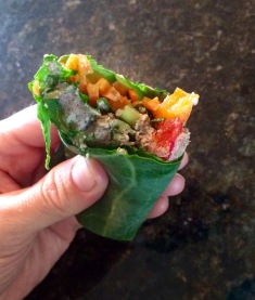 Pecan Hummus Veggie Wrap