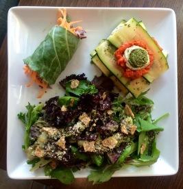 Thai Lettuce Wrap, Raw Vegan Lasagna, S&M Salad (One Lucky Duck)