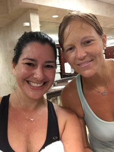 Melissa and Megan post Monsoon 10 miler
