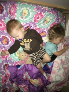 Snuggling Sibblings