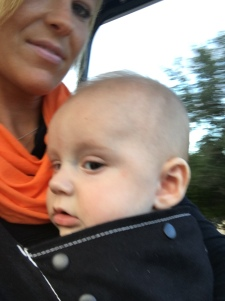 Ty's first golf cart ride!