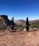 Headstands on top of Lost Mine