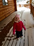 Landri was so excited!  First time in snow!
