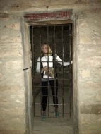 Megan in Jail in Terlingua