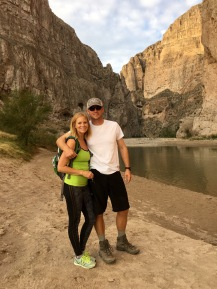 Megan & Scott in Boquillas (Mexico on other side of river)