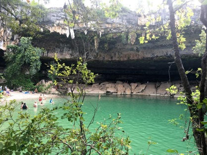 Across from half cave